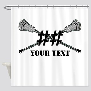 Lacrosse Camo Sticks Crossed Personalize Shower Cu